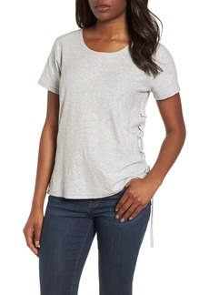 Vince Camuto Side Lace-Up Cotton Slub Top