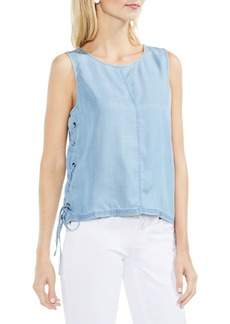 Vince Camuto Side Lace-Up Sleeveless Blouse