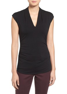 Vince Camuto Side Ruched V-Neck Top