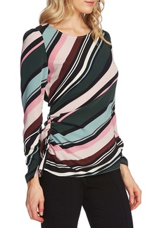 Vince Camuto Side Ruched Windsor Stripe Top