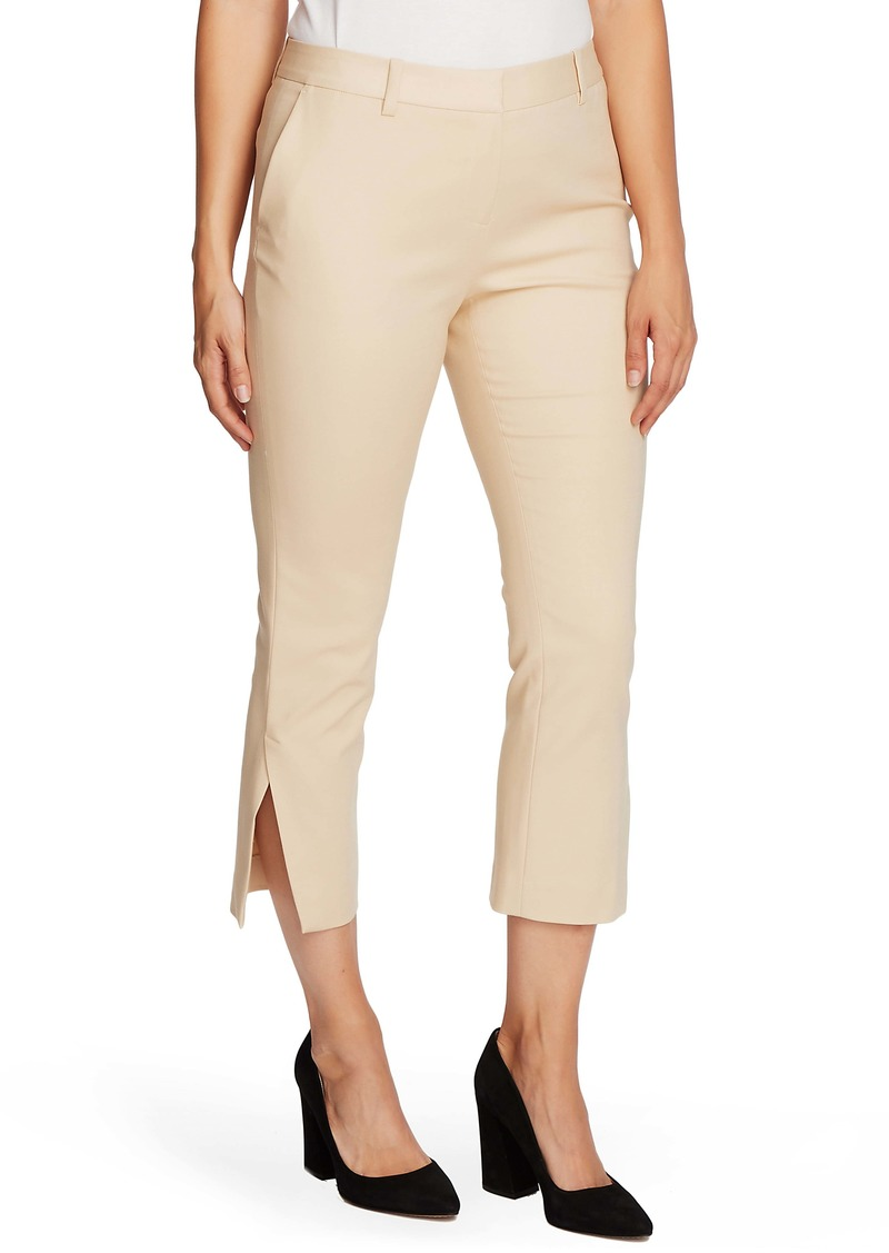 Vince Camuto Side Slit Cotton Blend Doubleweave Trousers