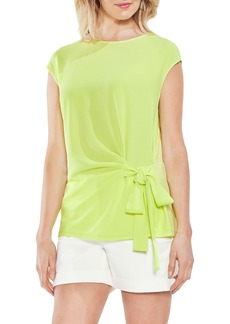 Vince Camuto Side Tie Ruched Stretch Crepe Top