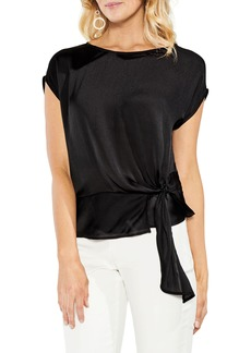 Vince Camuto Side Tie Satin Blouse