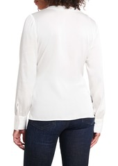 Vince Camuto Side Tie Wrap Front Long Sleeve Blouse