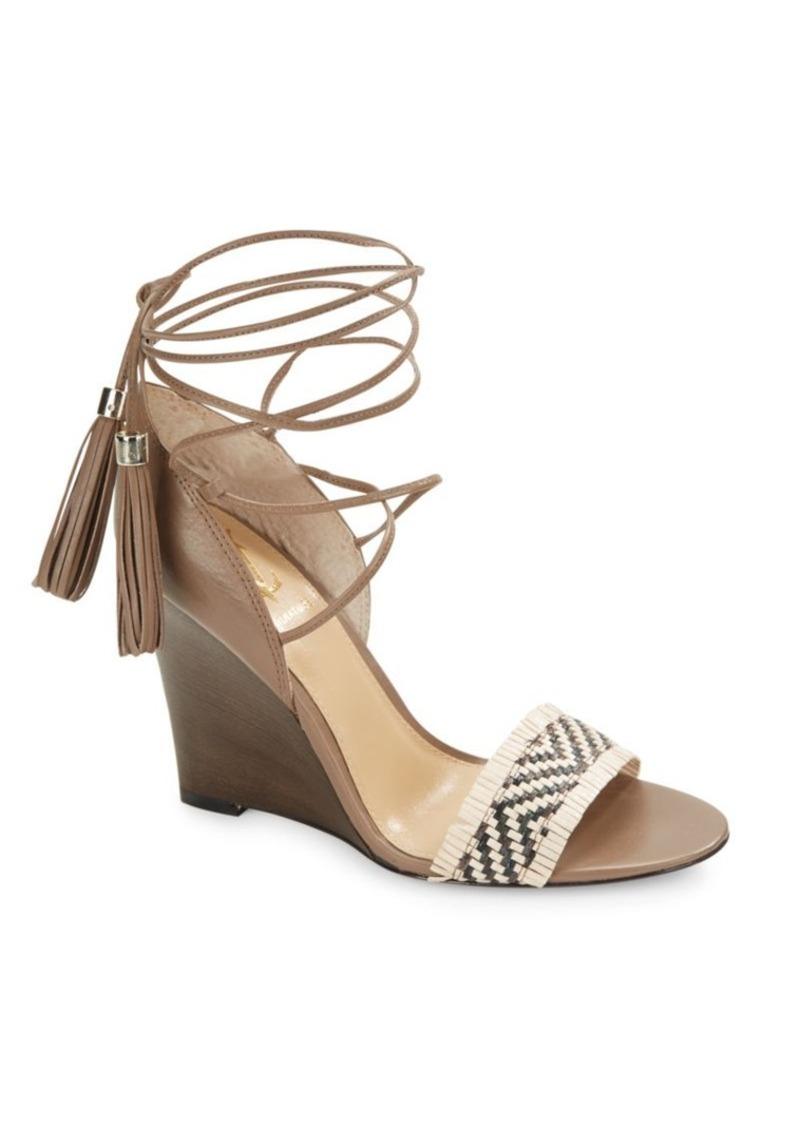 Vince Camuto Adriani Braided Leather Wedge Sandals