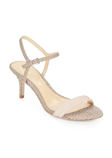 Vince Camuto Alcine Colorblock Reptile-Embossed Leather Sandals