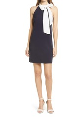 Vince Camuto Signature Bow Neck Stretch Crepe Sheath Dress
