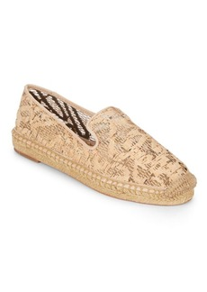 Vince Camuto Caldwell Cork & Leather Espadrille Smoking Slippers
