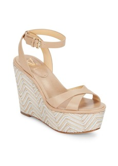 Vince Camuto Danee Leather Platform Wedge Sandals