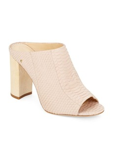 Vince Camuto Tad Reptile-Embossed Leather Mules