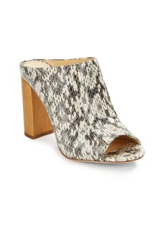 Vince Camuto Tad Snake-Embossed Leather Mules