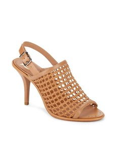 Vince Camuto Woven Leather Slingback Platform Sandals