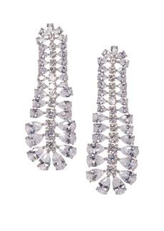 Vince Camuto Silvertone & Crystal Linear Drop Earrings