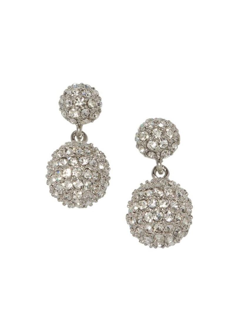 Vince Camuto Silvertone & Pavé Crystal Drop Earrings