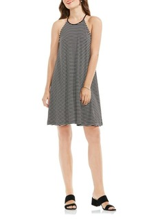 Vince Camuto Simple Striped Halter Dress