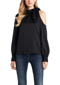 Vince Camuto Single Cold Shoulder Tie Neck Top