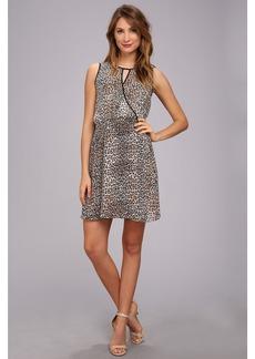 Vince Camuto S/L Keyhole Desert Leopard Dress