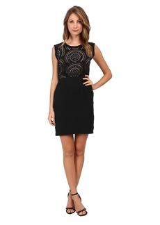 Vince Camuto S/L Laser Cut Dress