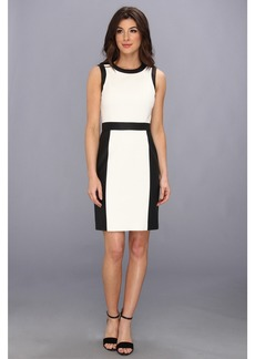 Vince Camuto S/L Perforated Slim Suiting Dress