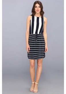 Vince Camuto S/L Yacht Stripe Mixed Print Dress