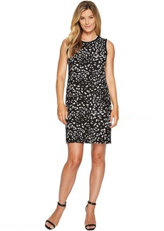 Vince Camuto Sleeveless Animal Whispers Shift Dress
