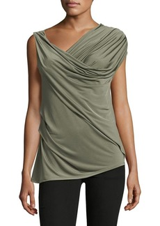 Vince Camuto Sleeveless Asymmetrical Twist Top