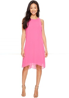 Vince Camuto Sleeveless Chiffon Overlay Dress