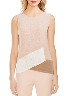 VINCE CAMUTO Sleeveless Color-Block Sweater