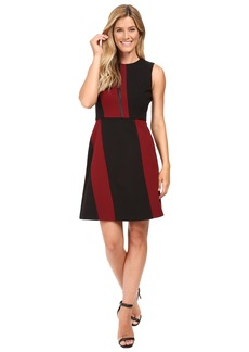 Vince Camuto Sleeveless Color Blocked Dress