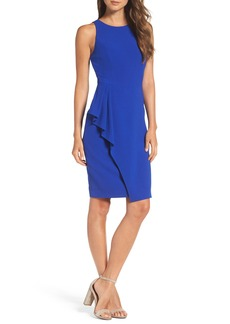 Vince Camuto Sleeveless Crepe Sheath Dress (Regular & Petite)
