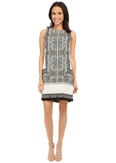 Vince Camuto Sleeveless Delicate Maze Panel Shift Dress