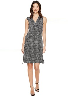 Vince Camuto Sleeveless Delicate Pebbles Wrap Dress