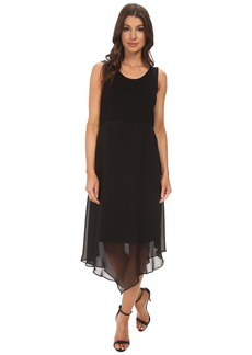 Vince Camuto Sleeveless Dress w/ Asymmetrical Chiffon Overlay Skirt