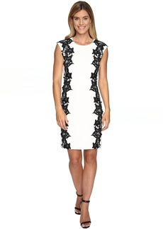 Sleeveless Dress with Side Lace Panels