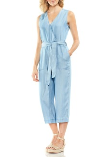 Vince Camuto Sleeveless Faux Wrap Jumpsuit