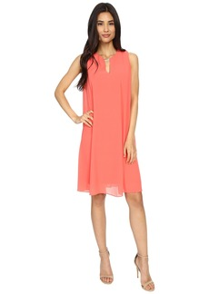 Vince Camuto Sleeveless Float Dress with Keyhole