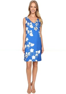 Vince Camuto Sleeveless Floral Cascade V-Neck Dress