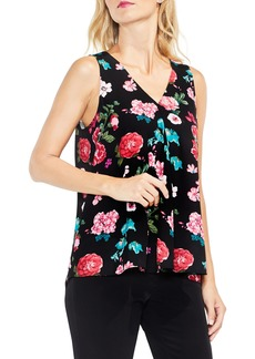 Vince Camuto Sleeveless Floral Heirlooms Drape Front Top