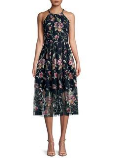 Vince Camuto Sleeveless Floral Midi Dress