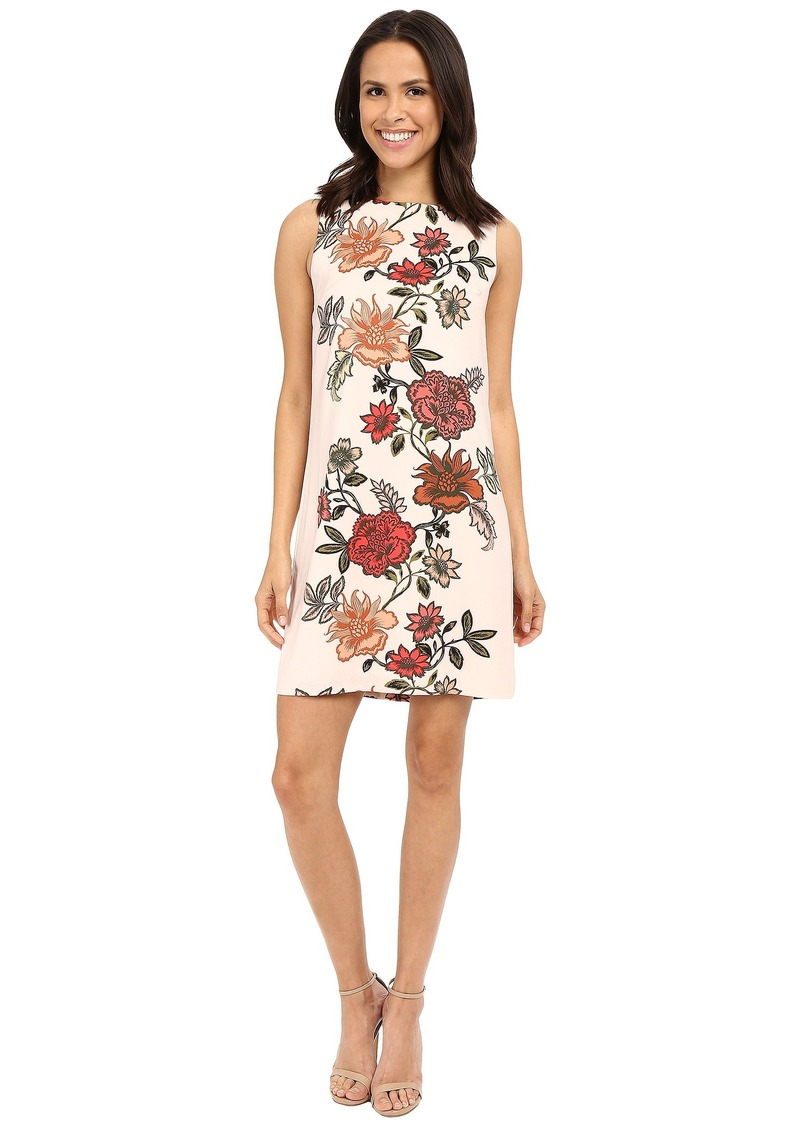 Vince Camuto Sleeveless Floral Portrait Shift Dress