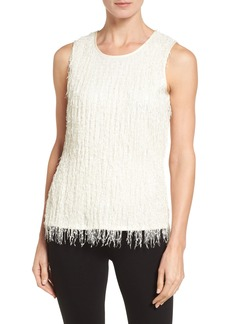 Vince Camuto Sleeveless Fringe Knit Top