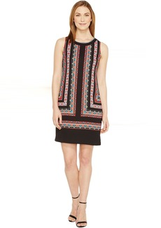 Vince Camuto Sleeveless Havana Geo Shift Dress
