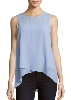 Vince Camuto Sleeveless High-Low Blouse