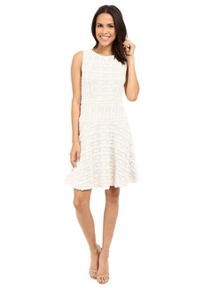 Vince Camuto Sleeveless Horizontal Lace Flare Dress