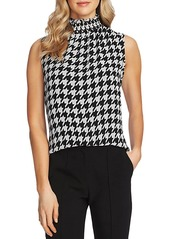 VINCE CAMUTO Sleeveless Houndstooth Top