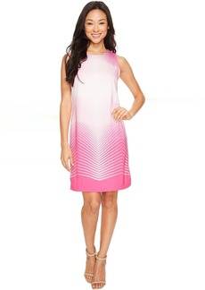 Vince Camuto Sleeveless Illusion Panel Shift Dress
