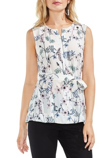Vince Camuto Sleeveless Keyhole Botanical Floral Top (Regular & Petite)