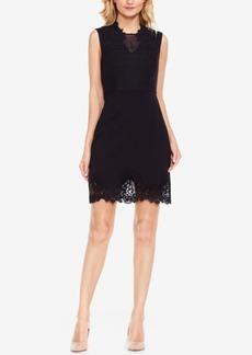 Vince Camuto Sleeveless Lace-Trim Dress