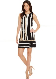 Vince Camuto Sleeveless Linear Terrain Shift Dress