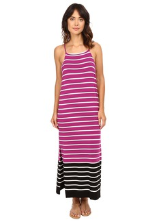 Vince Camuto Sleeveless Magnet Stripe Dress w/ Side Slits